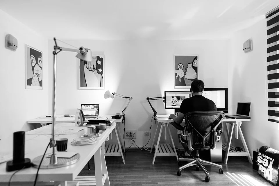 converting the garage into an office