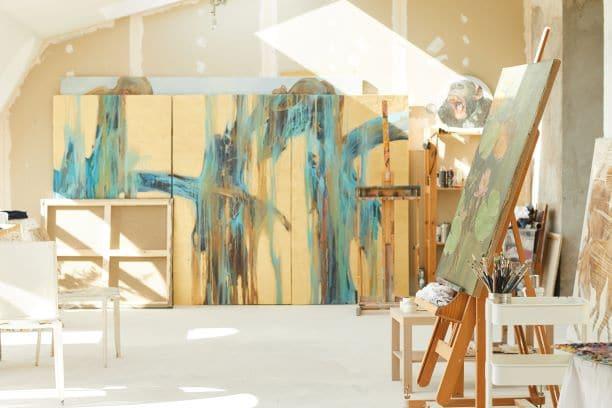 create an art studio in your loft