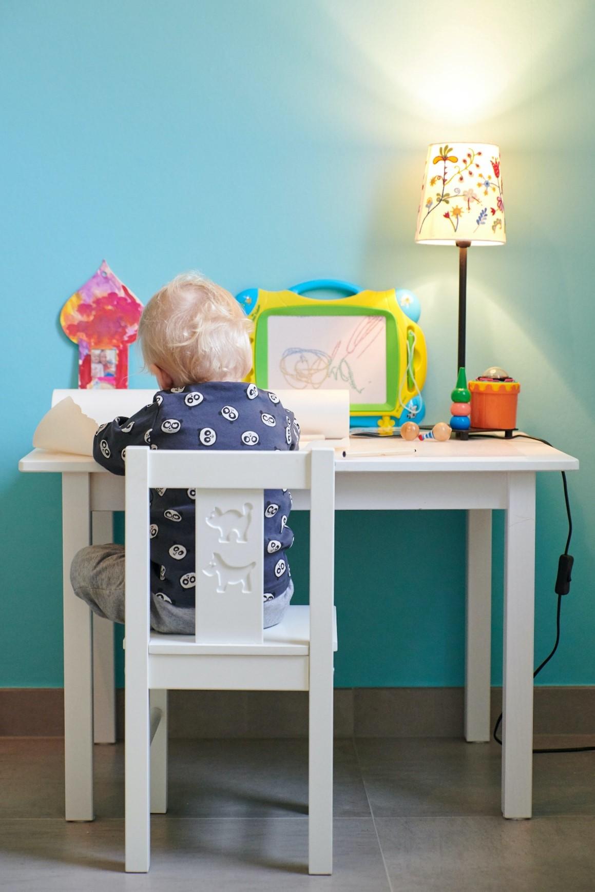 clutter-free desk space