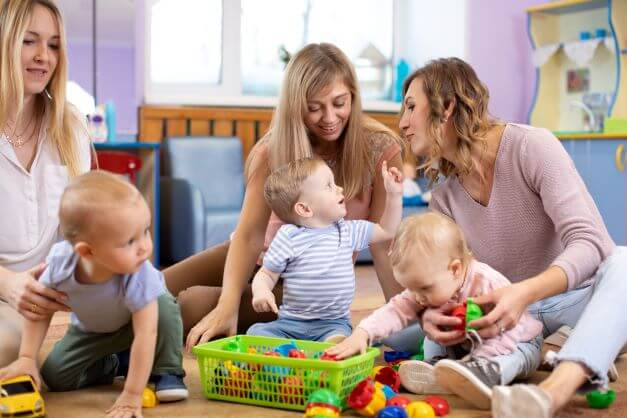 Mum Friends at a baby group